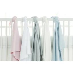"""Bouton Jaune *Couverture en Coton Organique 42po x 42po de Bouton Jaune/Bouton Jaune 42"""" x 42"""" Organic Cotton Blanket, Gris/Grey"""