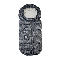 7AM Enveloppe Hivernale Blanket 212 Évolution de 7AM/7AM Blanket 212 Evolution Footmuff, Noir Géométrique/Black Geo