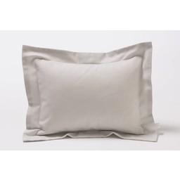 Bouton Jaune Bouton Jaune - Cache-Oreiller 10x13 Pouces, Céleste/Céleste 10x13 Inches Pillow Cover, Rayé Gris/Grey Stripes