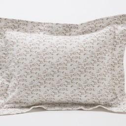 Bouton Jaune *Bouton Jaune - Cache-Oreiller 10x13 Pouces, Trois Petits Pois/Trois Petits Pois 10x13 Inches Pillow Cover, Oiseaux Roses/Pink Birds