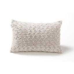 Bouton Jaune *Cache-Oreiller 12x16 Pouces en Fausse Fourrure de Bouton Jaune/Bouton Jaune 12x16 Inches Faux Fur Pillow Cover, Gris/Grey