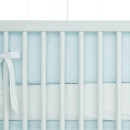 Bouton Jaune Demi-Bordure de Lit, Toi Moi Coco de Bouton Jaune/Bouton Jaune Toi Moi Coco Half Bed Bumper, Bleu/Blue