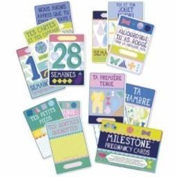Milestone *Cartes Premières Étapes Pour Future Maman de Milestone/Milestone Pregnancy First Steps Cards