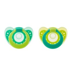 The First Years The First Years - Suces à Anneau Gumdrop/Gumdrop Pacifier with Ring, 3-6 mois/months, Vert/Green