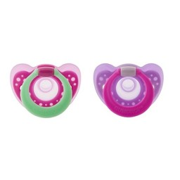 The First Years The First Years - Suces à Anneau Gumdrop/Gumdrop Pacifier with Ring, 3-6 mois/months, Rose/Pink