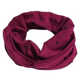 L&P Foulard Anneau en Coton de L&P/L&P Infinity Cotton Scarf, Oiseaux-Mauve Rosé-Purple/Pink Birds, 0-5T