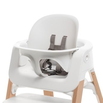 Stokke Steps Ensemble Bb Pour Chaise Haute High Chair Baby Set Blanc