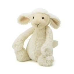 Jellycat Agneau Bashful de Jellycat/Jellycat Bashful Lamb, Mini/Small, 7 pouces/ 7 inches