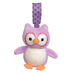 Apple Park Jouet pour Poussette d'Apple Park/Apple Park Stroller Toy, Hibou Mauve/Purple Owl
