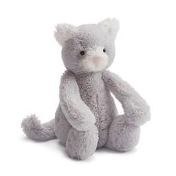 Jellycat Jellycat - Chaton Bashful/Bashful Kitty, Gris 7''/Grey 7''