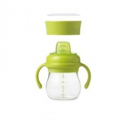 OXO OXO - Ensemble Bouteille Évoutive Avec Embout Souple/Transition Soft Spout Sippy Cup Set, Vert/Green