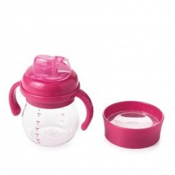 OXO OXO - Ensemble Bouteille Évolutive Avec Embout Souple/Transition Soft Spout Sippy Cup Set, Rose/Pink