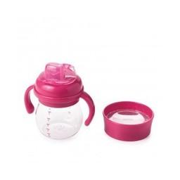 OXO Ensemble Bouteille Évoutive Avec Embout Souple/Transition Soft Spout Sippy Cup Set, Rose/Pink