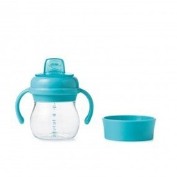 OXO OXO - Ensemble Bouteille Évolutive Avec Embout Souple/Transition Soft Spout Sippy Cup Set, Aqua