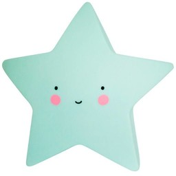A Little Lovely Company A Little Lovely Company - Mini Veilleuse Étoile/Mini Star Light, Menthe/Mint