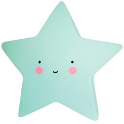 A Little Lovely Company A Little Lovely Company - Mini Veilleuse Étoile/Mini Star Light, Menthe/Mint