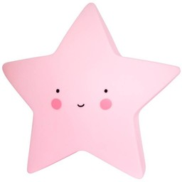 A Little Lovely Company A Little Lovely Company - Mini Veilleuse Étoile/Mini Star Light, Rose/Pink