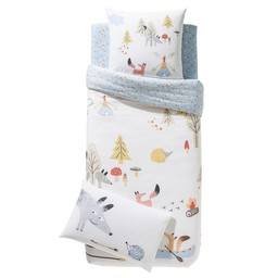 Catimini *Taie d'Oreiller de Catimini/Catimini Pillow Case, 50x75cm, Tipis et Canoés