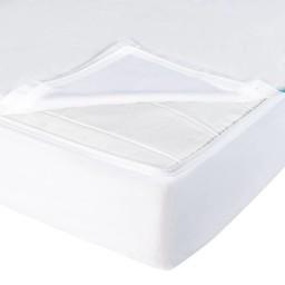 Quickzip QuickZip - Drap Contour avec Zip pour Lit de Bébé/Crib Zipper Sheet Set, Blanc/White