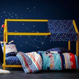 Catimini Catimini - Housse de Couette pour Lit Double/Duvet Cover for Double Bed, 198x218cm, L'Ours et l'Étoile