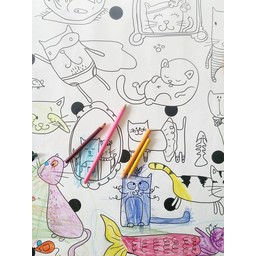 Affiche à Colorier Chats de Rue Tabaga/Rue Tabaga Cats Giant Coloring Poster