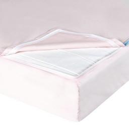 Quickzip QuickZip - Drap Contour avec Zip pour Lit de Bébé/Crib Zipper Sheet Set, Rose/Pink