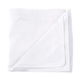 Quickzip QuickZip - Dessus de Drap Contour en Coton avec Zip pour Lit de Bébé/Crib Zip-On Cotton Sheet, Blanc/White