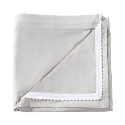 Quickzip Dessus de Drap Contour en Coton avec Zip pour Lit de Bébé de Quickzip/Quickzip Crib Zip-On Cotton Sheet, Gris/Gray