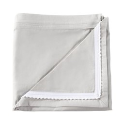 Quickzip QuickZip - Dessus de Drap Contour en Coton avec Zip pour Lit de Bébé/Crib Zip-On Cotton Sheet, Gris/Gray