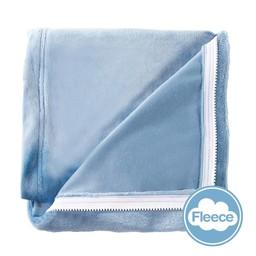 Quickzip QuickZip - Dessus de Drap Contour en Polaire Velouté avec Zip pour Lit de Bébé/Crib Zip-On Velvety Fleece Sheet, Bleu/Blue