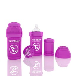 Twistshake Biberon Anti-Colique de Twistshake/Twistshake Anti-Colic Bottle,180 ml, Mauve/Purple