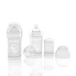 Twistshake Twistshake - Biberon Anti-Colique/Anti-Colic Bottle, 180ml, Blanc/White