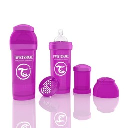Twistshake Biberon Anti-Colique de Twistshake/Twistshake Anti-Colic Bottle, 260 ml, Mauve/Purple