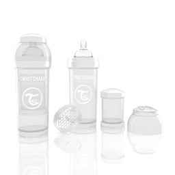 Twistshake Twistshake - Biberon Anti-Colique/Anti-Colic Bottle, 260 ml, Blanc/White