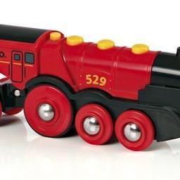 Brio Locomotive Rouge Puissante à Piles de Brio/Brio Mighty Red Action Locomotive