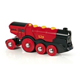 Brio Locomotive Rouge Puissante à Piles de Brio/Brio Mighty Red Action Locomotive