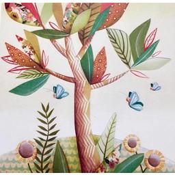 Catsa Carte de Souhaits Catsa/Catsa Greeting Card, Arbre/Tree