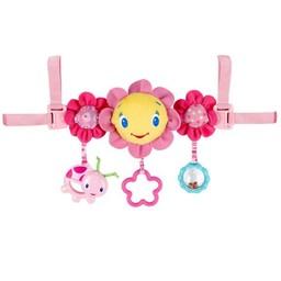 Bright Starts *Jouet pour Banc d'Auto Fleur Rose de Bright Starts/Bright Starts Pink Carrier Toy Bar