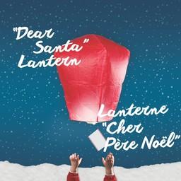 Nouwee Lanterne Cher Père Noël de Nouwee/Nouwee Dear Santa Lantern, Blanc/White