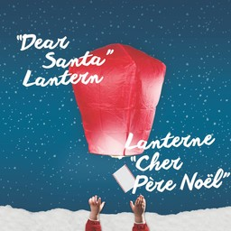 Nouwee Lanterne Cher Père Noël de Nouwee/Nouwee Dear Santa Lantern, Bleu/Blue