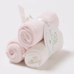 Bouton Jaune *Ensemble de 3 Débarbouillettes en Ratine de Velours de Bouton Jaune/Bouton Jaune Set of 3 Velvet Ratine Washclothes, Rose/Pink, Taille Unique/One Size