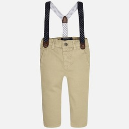Mayoral *Pantalon Chino à Bretelles de Mayoral/Mayoral Chino Pants with Suspenders