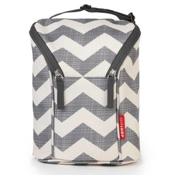 Skip Hop *Skip Hop - Porte Biberons Double Grab & Go/Grab & Go Double Bottle Bag, Chevron