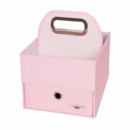 JJ Cole JJ Cole - Panier pour Couches et Lingettes/Diapers and Wipes Caddy, Rose/Pink