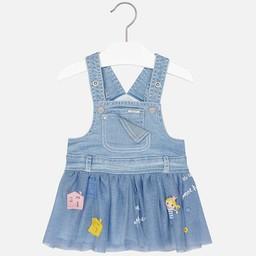 Mayoral *Jupe Salopette en Jeans de Mayoral/Mayoral Jeans Overalls Skirt