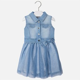 Mayoral Robe Jeans et Tulle de Mayoral/Mayoral Jeans and Tulle Dress