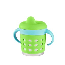 Make my day Tasse Antifuites Make My Day/Make My Day Sippy Cup Vert et Bleu/Green and Blue