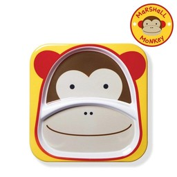 Skip Hop *Assiette à Compartiments Zoo de Skip Hop/Skip Hop Zoo Divided Plate, Singe/Monkey