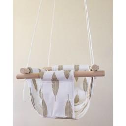 Cyan Degre Balançoire Suspendue de Cyan/Cyan Suspended Swing, Plumes Or/Feathers Gold