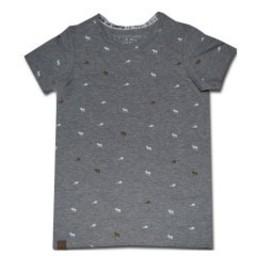 L&P Chandail Castor et Orignal de L&P/L&P Beaver and Moose Shirt Gris/Grey 18-24 Mois/Months